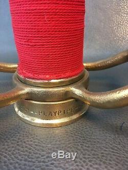 Vintage Powhatan Brass 30 Inch 2 1/2 Inch Fire Nozzle Play Pipe With Red Cord
