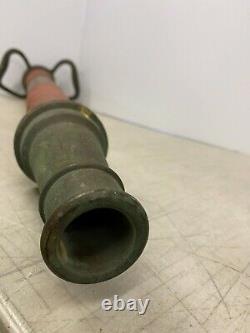 Vintage Powhatan Works NS Ranson WV WVA Brass 9-66 Fire Hose Nozzle 30 Tall