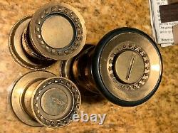Vintage Solid Brass FIRE Hose Spray Nozzle by ELKHART SECO SIERRA NS #A 3 lot