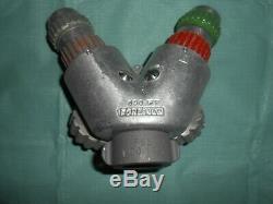 Vintage Western Fire Equip Co Aluminum Hose Wye Y Splitter & Hansen Nozzles