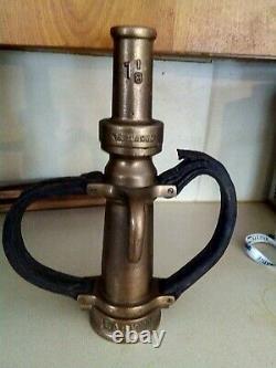 Vintage larkin brass fire nozzle 14 1\2 inch