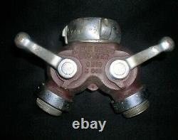 Vtg Akron Brass Wooster, Ohio Fire Hydrant Water Thief Wye Splitter 3 x (2)1.5