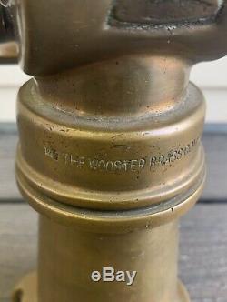 Vtg Wooster Brass Company FIRE HOSE NOZZLE Fireman