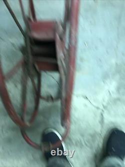 Wirt And Knox Vintage Fire Hose Reel 21 Diameter