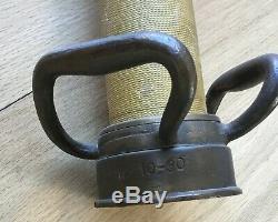 1930 Vintage 30 Laiton Tuyau Tuyau D'incendie Buse Original Chicago W. Allen D. Rare