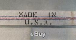 75' Lin Unlined Lutte Contre L'incendie Assemblage Du Tuyau Blanc Avec Rayures Made In USA (h1)
