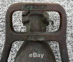 Akron Pompier Us Navy De Collection Vintage Brass Fire Hose 1,5 Buse