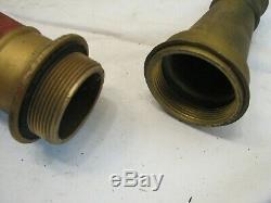 Allen Vintage Brass 30 Buse Longue Lutte Contre L'incendie Tuyau Astuce Pompier Outil