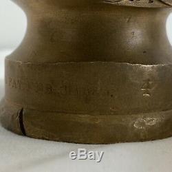 Antique 1885 No. 4 C. Callahan Co. Boston Mass. Incendie Brass Flexible Buse Ny Style