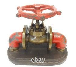 Antique 1915 Incendie Bronze Econ Valve Hydrant 32 Impressionnant Et Énormes Lbs