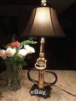 Antique Alfco (4 Décembre 1917) En Laiton Buse Feu Personnalisé Lampe De Table