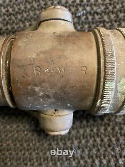 Antique B & M Railroad Brass Fire Hose Spray Nez Fabriqué Par Elkhart Brass Mfg Co