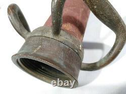 Antique Brass 30 Buse De Feu W. D. Allen Mfg Chicago Red Cord