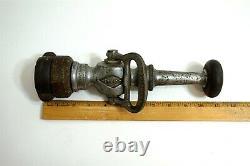Antique Colt W. S. Darley & Co Pompiers En Laiton Fire Hose Nozzle 11 Grand