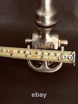 Antique Elkhart Brass (2 Têtes) 1 In. Buse D'incendie Nickel / 1917