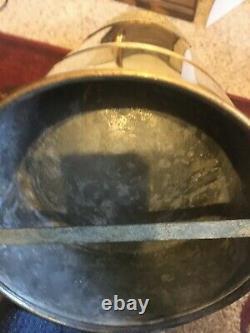 Antique Randolph Extincteur D'incendie / Acides De Soude / Boussole D'incendie En Laiton Massif