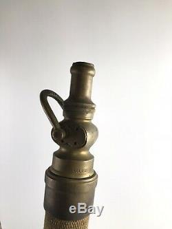 Antique U. S. R. Co. Tuyau D'incendie / Buse 31 10146 1/2