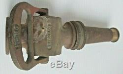Antique Vintage Brass Powhatan Fire Hose Nozzle