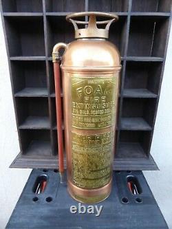 Antique Vintage Pacific Fire Exiteur Cuivre / Laiton Affichage Seulement