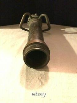 Cannon Vintage Tuyau D'incendie Buse 2-1 / 2 Tuyaux, Avec 3 Coupler