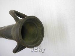 De 24 À Long Cast Tube Métallique Fire Hose Avec Poignées En Laiton Buse Ou Bronze Antique