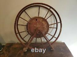 Early Antique Wirth & Knox Co. Fire Hose Reel Red Large Make Offer