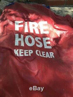 Fire Hose Choker Corp Rack 100 Ft Buse 1 1/2 250 Couplage Psi Avec Couvercle