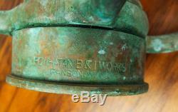 Grand Vintage Brass Feu Buse 30 Powhattan B & I Works Ranson Virginie-occidentale Sapeurs-pompiers