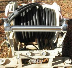 Hannay Double 1 X 100' Dévidoir F7130-25-26 Lutte Contre L'incendie Avec Un Tuyau Et La Buse
