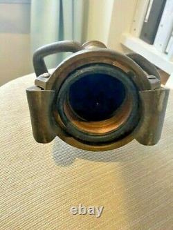 Heavy Vintage Brass & Copper Fire Hose Nozzle Pompier Antique 18