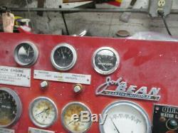 John Bean Fire Engine Pompe Camion Autopompe Gauge Panneau De Configuration