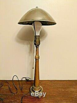 Laiton Antique Tuyau D'incendie Buse À Vapeur Punk Lampe De Table Cuivre Laiton 22