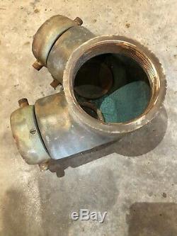 Laiton Massif Seco Double Clapper 4 Bouche D'incendie Tuyau Connexion Dept. Siamois