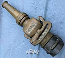 Lally Co. 9 Pouces En Laiton Massif Feu Buse Avec Levier Coupé Et Collier Antique