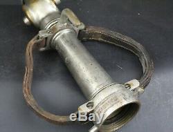 Larkin, Dayton, Oh, 1927 Vintage Brass Département Fire Hose Nozzle 29