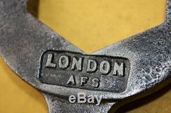 London Afs Brigade Service D'incendie Ww2 Tuyau Clé Buse Spanner Pompier Moteur #