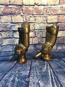 Lot De 2 Vintage Brass Fog Lances 11/2 Dans. & 1 Dans