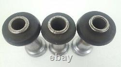 Lot De 3 Chrome 1.5 Nh Smooth Bore Nozzle Tip (2)1 & (1)1.125 Avec Bumper