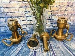 Lot De Deux Vintage 21/2 Dans. Mcintire Brass Morris, Arreter Lances