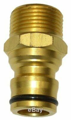 Lutte Contre L'incendie Noir Flexible 20mm 3/4 X 36m Stérilet Laiton Buse En Prime Lever Des Armes À Feu