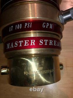 Master Stream Fire Hose Bronze Monitor Buse 1250 Gpm 848-bc No-848200