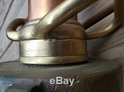 Rare Belle Brass Antique Fire Hose Buse G. S. Bois Chicago & Montage