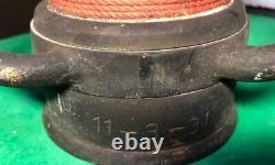 Rare Vintage Chicago Brass 1931 Feu Buse Avec Poignées Daté 30/11/31