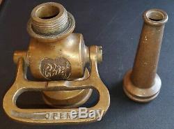 Rare Vintage Elkhart Brass Mfg. Co Chef Tuyau D'incendie Buse. Expédition Très Rapide