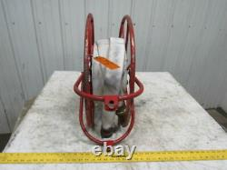 Sales Inc. Vintage Swing Type Fire Hose Storage Reel With75' Hose & Brass Nozzle