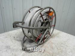 Seco Vintage Swing Type Tuyau D'incendie De Stockage Bobine With75' Tuyau Et Laiton Buse