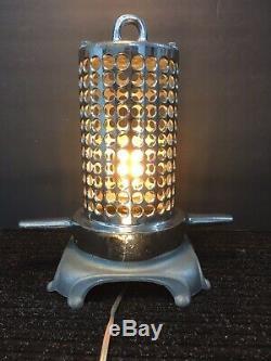 Tuyau D'incendie S / S Aspiration Passoire Sur Mesure Lampe De Table One Of A Kind Vintage Beauté