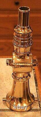 Very Rare Lourde All-brass Tirez À Haute Pression Buse De Lutte Contre Le Feu