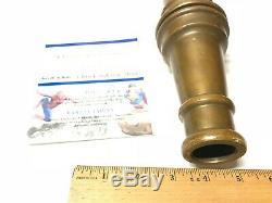 Vintage 1900 30 Inch Brass Wooster Feu De Buse Eau Pipe Cannon Firetruck