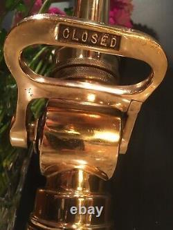 Vintage 2 1/2 In. Wooster Poli Laiton / 11/4 Pointe Avec Buse De Feu Éteinte 16 H